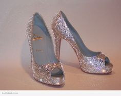 Christian Louboutin strass by Red Soles Reborn.