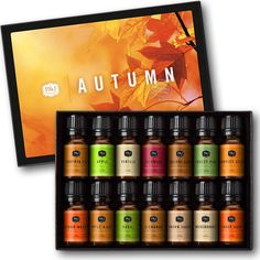 Autumn Set of 14 Premium Grade Fragrance Oils - 10ml Fall Essesntail Oils, make your home smell amazing #ad