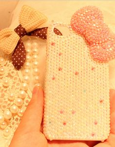 $29.99   Rhinestone Pearl bowknot iphone 4/4s/5 case              diy handmade special and fashion protect your iphone well
