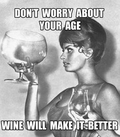 dont worry about your age wine will make it better birthday meme