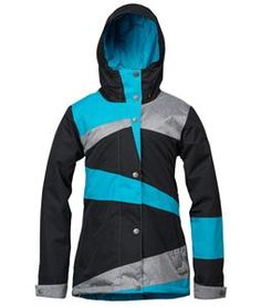 Roxy Rydell Snowboard Jacket Caribbean Sea/Anthracite/Anthracite - Womens 2014