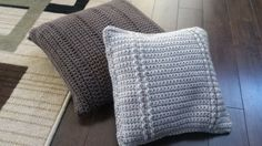 Re-purposing stuff from our house - PILLOW EDITION! Free crochet pillow pattern included...