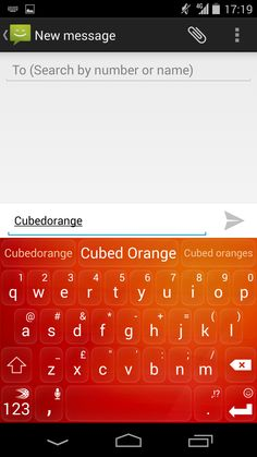 Cubed Orange - a POP of color! Available on Android in the SwiftKey Store.