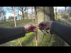 How to tie a Valdotain tresse | Arborist knot tying - YouTube