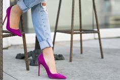 Friday Pink :: Cutout vest & Magenta pumps