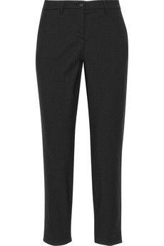 Miu Miu Cropped stretch-wool gabardine pants   NET-A-PORTER