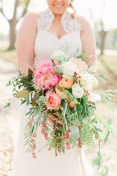 Check out the California pepperberry in this bouquet! Photo by Holly Chapple Flowers - http://thefullbouquetblog.com/