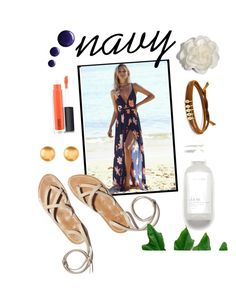 """""""Navy Dreams"""" by alapchenko ❤ liked on Polyvore featuring MAC Cosmetics, Cara, Jules Smith and Topshop"""