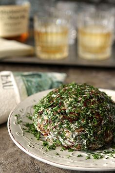 Pecan, Pineapple and Gorgonzola Cheese Ball with Dried Cranberries