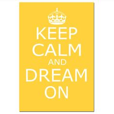 Keep Calm and Dream On  13x19  Large Nursery Art Print  by Tessyla, $30.00