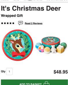 It's Christmas Deer $48.95 http://www.lushusa.com/Christmas/christmas,en_US,sc.html