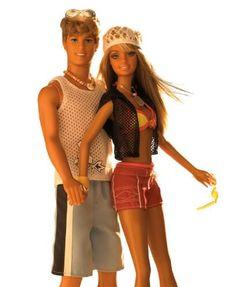 Cali Girl Barbie and Cali Girl Ken circa 2004.  These dolls smell like suntan lotion!