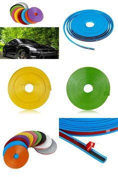 [Visit to Buy] 8 meters Universal Car Wheel Trim Alloy Wheel Arch Protector Rim Guard Adhesive Roll for BMW E46 E39 E60 E90 E36 F30 E34 F10 E30 #Advertisement