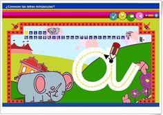 """""""¿Conoces las letras minúsculas?"""" (Aplicación interactiva de Lectoescritura) Apps, Acting, Family Guy, Symbols, Digital, Fictional Characters, Alphabet, Lower Case Letters, Interactive Whiteboard"""