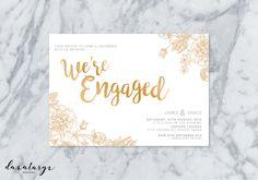 Printable Engagement Invitation  Rustic by StationerybyDana