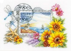 Buy Summer Stamp Cross Stitch Kit online at sewandso.co.uk