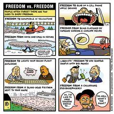 Cartoon: Freedom vs. freedom | Daily Kos | http://www.dailykos.com/story/2015/01/06/1355835/-Cartoon-Freedom-vs-freedom?detail=email