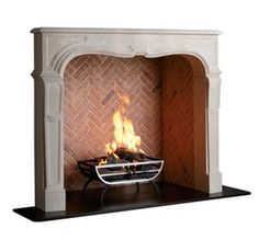 The Sorbonne   Traditional, Transitional, Stone, Fireplace Element by Chesneys