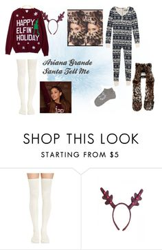 """Ariana Grande - Santa Tell Me"" by bree-hemmings ❤ liked on Polyvore"