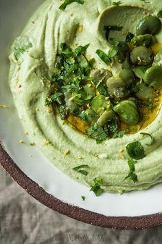 Hummus z bobu - jadłonomia • przepisy wegetariańskie