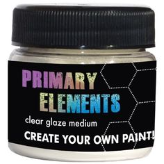 Luminarte 1-Ounce Primary Elements Glaze Jar, Medium, Clear Luminarte