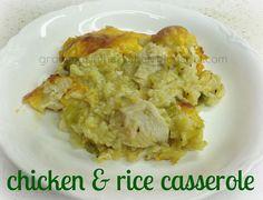 Gramma's in the kitchen: Chicken & Rice Casserole