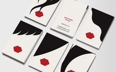Hairdressers, hair stylists, and fashionistas can use these minimalist, punch-packing Business Cards to wow new clients