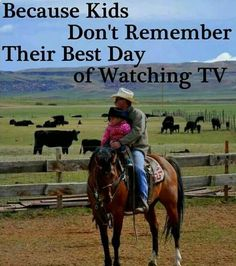 So true Everyone should remeber to have days with their kiddos and NO electronics