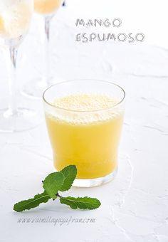Mango espumoso: Un trago refrescante, sin alcohol/ An alcohol free and refreshing drink: Sparkling Mango