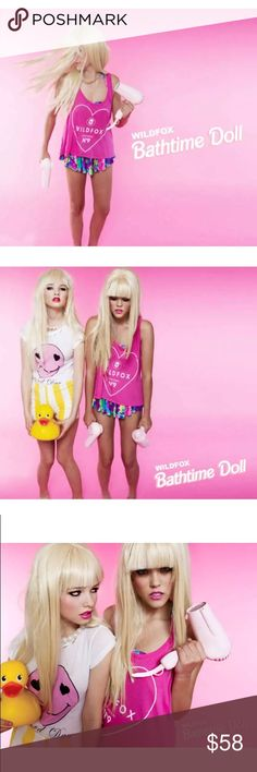 Sale! Wildfox NWT No9 Bathtime Barbie Tank in Pink RARE!!! Beautiful Barbie pink tank w Wildfox logo No9 Graphix front. Barbie House tank from the Barbie doll line, comes Bathtime Barbie! No one likes bath time, especially when you're a doll and so much to do! Parties to be gone to, gals to hang w, life's just more fun when you're a Barbie girl! Get the rare celebrity loved Barbie tank, now one sale! Only one left available!! Wildfox Tops Tank Tops