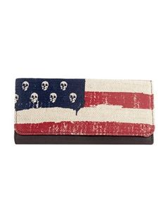 Skulls and Stripes Wallet by Loungefly