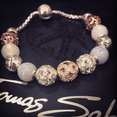 Thomas Sabo Karma Bracelet. With rose gold and sterling silver charms.