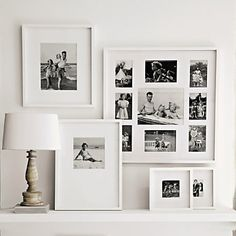 Buy At Home > Photo Frames > Fine Wooden Wall Frames from The White Company White Photo Frames, White Frames, White Picture, Picture Frames, Halls, Big Wall Art, The White Company, Home And Deco, Wooden Walls