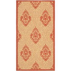 Courtyard Natural/Red 2 ft. x 3 ft. 7 in. Indoor/Outdoor Area Rug