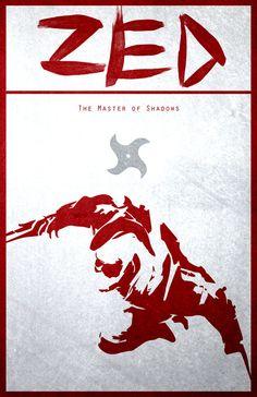 Zed   11 X 17 League of Legends Poster por SDcorp en Etsy
