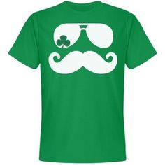Mustache shirt with some a shamrock flare for St. Patrick's Day.