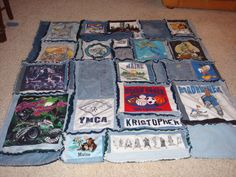 jeans and t-shirt quilt