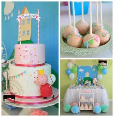 For a lighthearted and delightful birthday party, a Peppa Pig-themed bash is perfect. Andreia Lopes of Fête à Porter — Festas de Charme took this whimsical animal theme and turned it into one fabulous celebration. Birthday Party Games For Kids, Second Birthday Ideas, Kid Party Favors, 3rd Birthday Parties, Pig Birthday, Kid Parties, Aniversario Peppa Pig, Pig Party, Bash