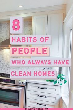 Home cleaning habits are the key to having a consistently clean home. These organizing ideas will help your home STAY clean.