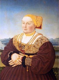 Conrad Faber von Kreuznach Frankfurt on the Main: Portrait of Anne von Glauburg, born Knoblauch, 1545