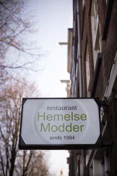 Restaurant Hemelse Modder - fair trade, biological, slow food, originally Belgium/French kitchen. Near Nieuwmarkt, central Amsterdam, great view on the canal.