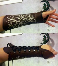 Sherwood Archer Women's Bracer by Ravenswood Leather. Fantasy/ Dragon Age