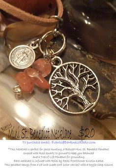 Mini St Benedict Medal coupled with Rose by ParanormalProtection, $20.00