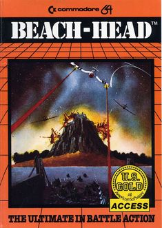 Beach-Head Commodore 64 Front Cover
