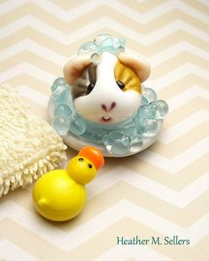 Kooter Bath and Duck   by Dragonfly Lampworks