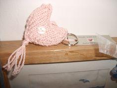 knitted keyring heart