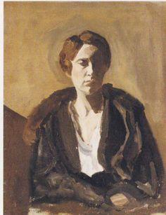 Portrait of Gwendeline Churchill by WINSTON CHURCHILL
