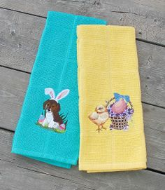 4-10-14  Easter dish towels for home