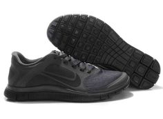 90dda3bee79e 579958-001 Mens Anthracite Black Nike Free 4.0 V3 Free Running Shoes