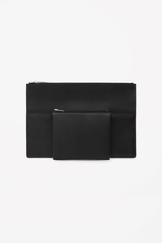 COS | Geometric leather clutch